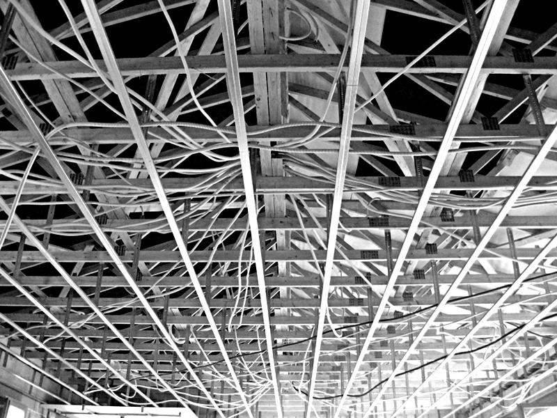 Chantier Maison 17 Rail Plaque de plâtre & Electricité