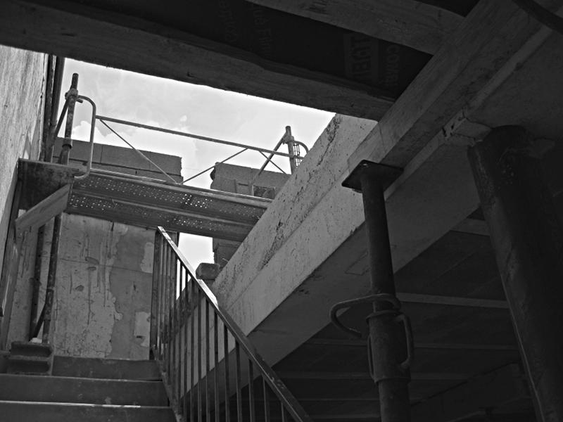 Chantier Extension 1 Trémie escalier existant